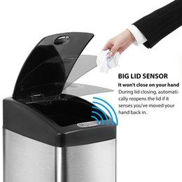 Новый 13 галлонов сенсорный датчик автоматический из нержавеющей стали мусорный бак 13G