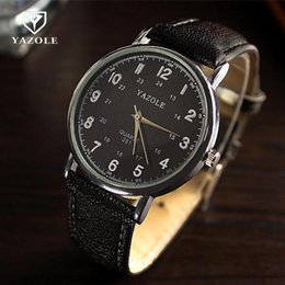$enCountryForm.capitalKeyWord Canada - New Arrival YAZOLE Brand Classic Dress Quartz Analog Wrist Watch Wristwatches for Men Women Unisex Lovers Couple 281
