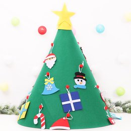 Funny Party Decorations Australia - New Funny 3D DIY Felt Toddler Cone Christmas Tree Children's Handmade Cloth Puzzle Xmas Ornaments Party Birthday Christmas Decorations