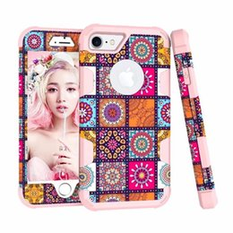 $enCountryForm.capitalKeyWord Canada - New 2018 Two-color Contrast color Jiugongge Anti-drop Mobile Phone Case Suitable for iPhone 8 Fashion Dust Phone Case