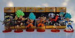 $enCountryForm.capitalKeyWord NZ - 6pcs set Dragon Ball Super WCF 9 Super Saiyan God Super Goku Vegeta Kale Frieza Son Gohan Jiren PVC Figures Toys Phone Accessories
