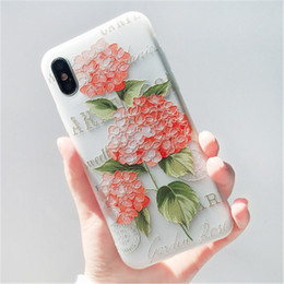 Paint Art 3d NZ - relief 3D phone shell marble painted phone shell relief soft shell creative art mobile phone for iphoneX iphone 8 7 6 6s plus
