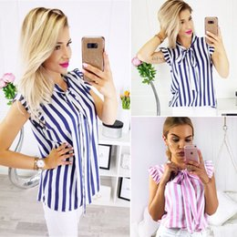 Sleeveless Shirts Cap Australia - Fashion Women Summer Vest Tops Sleeveless Shirt Blouse Casual Tops Striped Women Clothes Fashion 2019