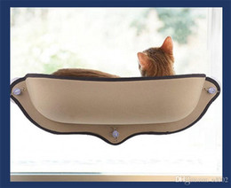 hot beds Australia - Pet Supplies Cat Nest Belt Bed Lounger Lightweight Cushion Cats Hammock With Hanging Shelf Sucker Windowsill Cute Hot Sale 45bh dd