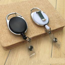 Car splits online shopping - Telescopic Pull Key Ring Plastic Multi Color Keychain Ellipse Split Car Keys Buckle For Women Men Jewelry st Y