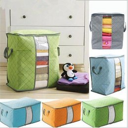 Big Storage Boxes Australia - Portable Non Woven Quilt Storage Bag Clothing Blanket Pillow Underbed Bedding Big Organizer Bags House Room Storage Boxes Buggy Bags 2018