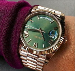 2017 mens watches New President Mens Watch Sweep Automatic Movement Mechanical Day-Date Rose Gold Stainess Steel Sapphire Glass Original Clasp Men Watches