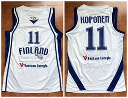 PETERI KOPONEN FINLAND NATIONAL TEAM - EUROBASKET 2011 Retro Basketball  Jersey Mens Embroidery Stitched Custom any Number and name Jerseys af7c4bc66