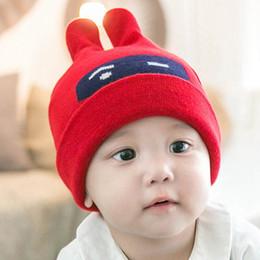 $enCountryForm.capitalKeyWord NZ - Rabbit Baby Hats Winter Children Hats With Character Crochet Beanie Boys Girls Wool Knitted Caps Fashion Outdoor Skull Caps