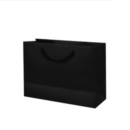 $enCountryForm.capitalKeyWord UK - 40*30cm+10cm Black card Kraft paper portable Thicken Customized clothing gift Shopping Packaging Advertising Packaging Standing bag