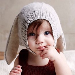 thanksgiving beanie babies 2018 - 2018 AAA Cute Baby Knitted Crochet Animal Rabbit Ear Beanie Hats Children's Autumn Winter Wool Caps Creative Knit H