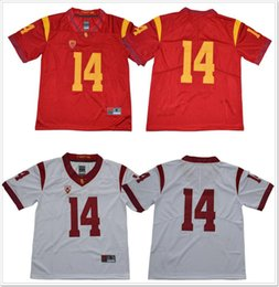 college football uniforms Canada - New USC Trojans #14 Sam Darnold Mens Vintage College American Football Sports Shirts Pro Team Jerseys Uniforms Stitched Embroidery On Sale