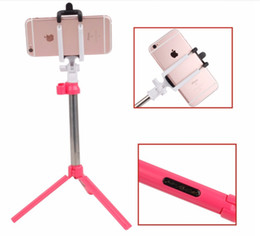 selfie stick iphone plus 2019 - Tripod Wireless Selfie Stick Monopod Bluetooth Remote Shutter with Retail Box For Samsung Galaxy S6 S7 S8 iPhone 7 Plus
