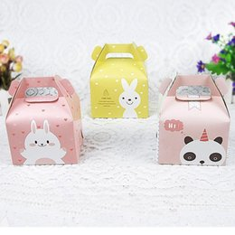 $enCountryForm.capitalKeyWord Australia - Cartoon Rabbit Handle Single Cupcake Muffin Packaging Paper Box Party Gift Boxes For Wedding Birthday Cake Box ZA5706
