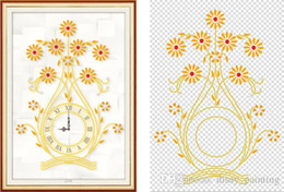 Chinese  Special shaped diamond painting cross stitch kit rhinestone part diy diamond embroidery Clocks and clocks vases home mosaic decoration Y5051 manufacturers