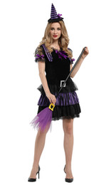 Toy Story Australia - Shanghai Story Halloween Costumes For Women Purple Fly Witch Costume Swallowtail Dress Cosplay