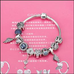 $enCountryForm.capitalKeyWord Australia - European Style Romantic Sterling Silver 925 Heart Charm Murano Beads Bracelet for Women Fit Original Bracelets DIY Jewelry