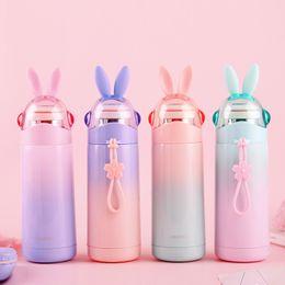 Steel centre online shopping - Stainless Steel Cartoon Kettle Rabbit Shape Vacuum Water Bottle Heat Preservation Mini Portable Multi Color Leak Proof Bottles sy jj