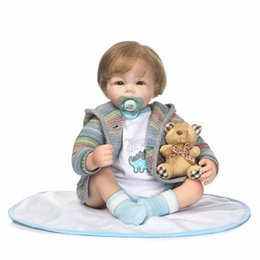 $enCountryForm.capitalKeyWord UK - 50cm Bedtime Toy Silicone Reborn Baby Boy Doll Toys Like Real 20inch Newborn Babies Doll Girls Birthday Gift Xmas Presents