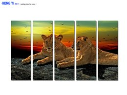 $enCountryForm.capitalKeyWord Australia - Large Contemporary Hot Sale Art Wall Animal Leopard oil painting Picture Printed on canvas for Living Room Bedroom Home Decor Aset204