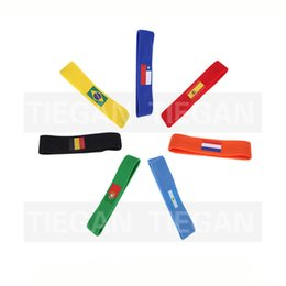 Country flag red white blue online shopping - 2018 Russia World Cup hair band country flag logo headband football Soccer fans sweatband souvenir Yoga Hairband Sport fitness Headbands