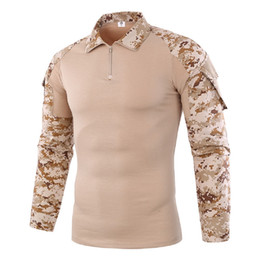 China Shanghai Story Men Tactical Gear Military Airsoft Special Ops Combat Shirt Camouflage Light Weight Rapid Assault Long Sleeve Shirt Frog Tee cheap camouflage camping gear suppliers