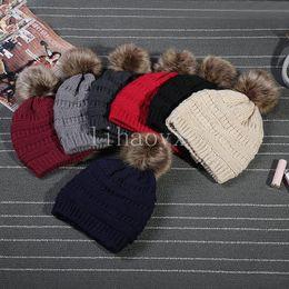 Mode hiver tricoté chaud chapeau occasionnel occasionnel chapeau chapeau extérieur 9 couleurs