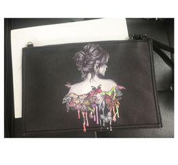 Dog Zipper Australia - women clutch bag retro 3D beauty girl Printing Shoulder Bag dog print handbags bolsa feminina purses giv evening bag