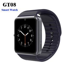 $enCountryForm.capitalKeyWord Australia - GT08 Bluetooth Smart Watch with SIM Card Slot and NFC Health Watchs for Android Samsung and IOS Apple iphone Smartphone Bracelet Smartwatch