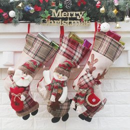 Kids Craft Making UK - Christmas Stockings Hand Made Crafts Children Candy Gift Santa Bag Claus Snowman Deer Stocking Socks Xmas Tree Decoration toy gift #25 26 27