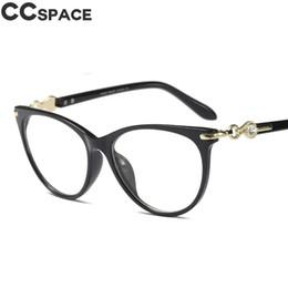 7604a913b559 45584 Crystal Diamond Cateye Glasses Frames Women Trending Styles 2018 New  Retro Brand Designer Optical Fashion Computer Glasses
