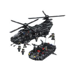 строительные блоки 1351pcs Сват команды строительных блоков Chinook транспорта сравнительный с высоким брендом вертолет мальчиков кирпича игрушки