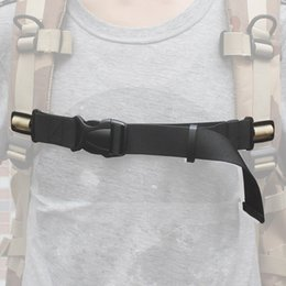 suitcase belt strap NZ - Black Adjustable Luggage Backpack Chest Strap with Quick Buckle Suitcase Travel Bag Packing Belts Accessories Backpack Chest Strap HJ086