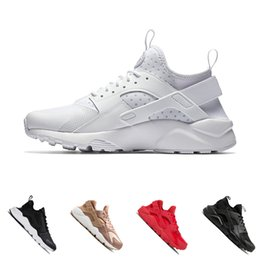 outdoor sports lighting 2020 - 2018 Huarache 1.0 4.0 Ultra Run Running Shoes For Men Women Triple Black White red Sneakers Huaraches Sports Shoes Eur 3