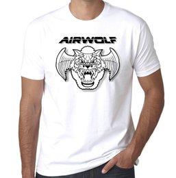$enCountryForm.capitalKeyWord Canada - Airwolf 80s tv helicopter retro 100% cotton mens printed tshirt Comfortable t shirt Casual Short Sleeve Print 100% Cotton