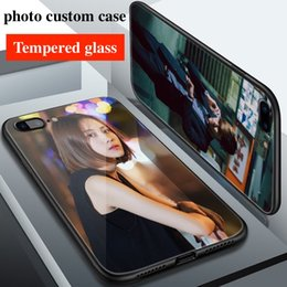 Glasses Brand Names Australia - For Samsung galaxy s8 s9 plus Luxury Fashion DIY Personalized customized name photo print picture tempered glass phone case cover