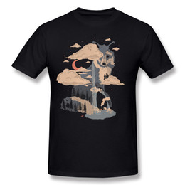 mountain tees UK - Best Choice Adult 100% Cotton At the Foot of Fox Mountain Tee-Shirt Adult Round Collar Black Short Sleeve T-Shirts Plus Size Crazy Tee-Shirt