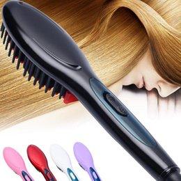 Straightening Irons Comb Australia - Electric hair straightener brush Hair Care Styling Comb Auto Massager Straightening Irons SimplyFast Hair iron