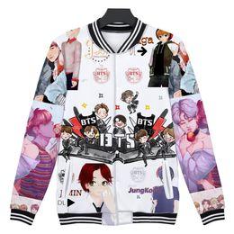Woman Fans Australia - BTS 3D Print Bangtan Boys K-pop Love Yourself Jacket Women BTS Fashion Casual Winter K-pop Hip Hop Female Fans Baseball Jacket