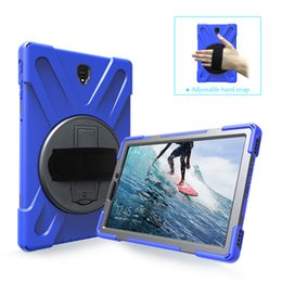 Samsung Tab 9.6 Case NZ - Military Extreme Heavy Duty Shockproof silicone pc CASE With Stand For Samsung Galaxy Tab A 10.0 SM-T835 SM-T830 T830 T835 2018 110pc