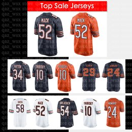 52 Khalil Mack Chicago Bears Jersey 58 Roquan Smith 24 Howard 34 Walter  Payton 29 Tarik Cohen 54 Brian Urlacher Men s Jersey d1218fde3