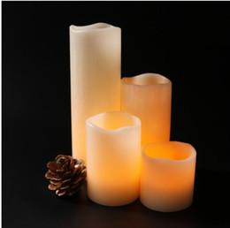 Опт Real Wax Remote-Contrated Electric Свеча Свадебное украшение 4 Наборы электрической свечи лампы