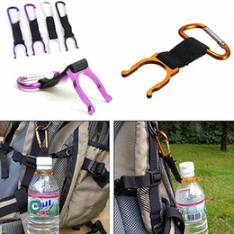 Discount bottle buckle - Outdoor Gadgets Water Bottle Buckle Hook Holder Clip For Outdoor Sport Hiking Survival Traveling Tools Camping Carabiner
