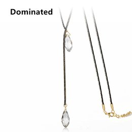crystal pendant beads 2019 - Dominated New Personalized Long Women Sweater Chain Retro Style Drop Crystal Beads Fashion Long Necklaces cheap crystal