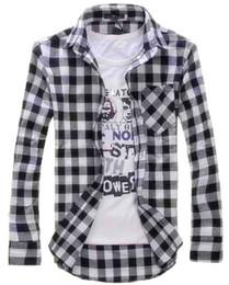 9b664cca3 PurPle checked shirt online shopping - Fashion Men Vintage Shirts Plaid  Check Long Sleeve Shirt Slim