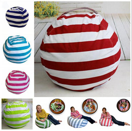GaraGe door tools wholesale online shopping - 16 Inch Kids Storage Bean Bags Plush Toys Beanbag Chair Bedroom Stuffed Animal Room Mats Portable Clothes Storage Bag OOA4434