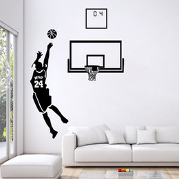 $enCountryForm.capitalKeyWord Australia - Playing Basketball Home Stickers Sport Design & Stick Pvc Wall Stickers DIY Vinyl Wall Decal Modern Art Murals for Living Room