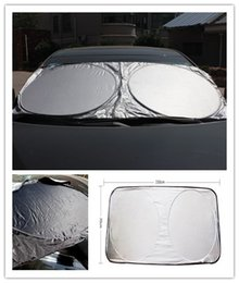 Discount auto sun shades - 150*70CM Car Sunshade Front Rear Windshield Window Foldable Sun Shade Shield Sun Visor UV Block Auto Sun Visor Windshiel