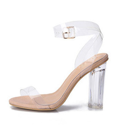 714923099b35f Super High Heels Women Sandals Fashion Style High Heels Transparent Shoes  Open Toe Pump Sexy Wedding High Heels