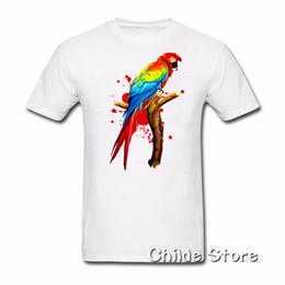 8396a5fc9aff 3D print O-Neck Mens Tee casual T-Shirt for men Cheap Adult Man Roll  Creation Shirts with Parrot Pet Macaw Exotic Bird Screw